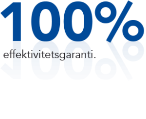 100 % effektivitetsgaranti