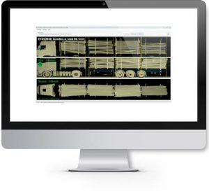 Truck measurement screen